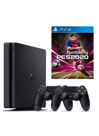 Sony Sony PS4 Slim 500Gb Oyun Konsolu + 2. PS4 Kol + PS4 Pes 2020 Renkli
